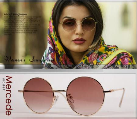 عینک آفتابی زنانه مدل Mercede (قهوه ای)